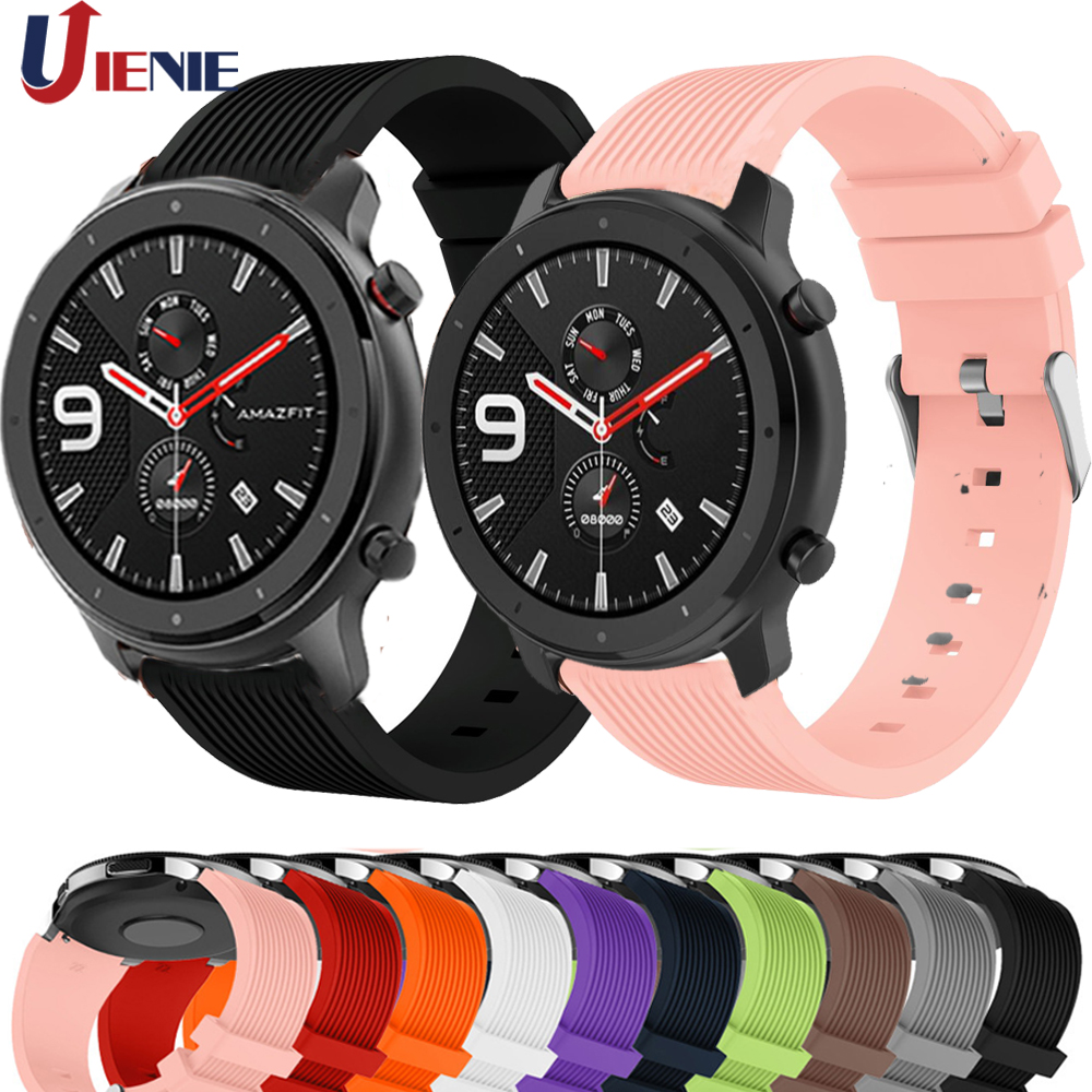 20mm 22mm Silicone Band Strap For Xiaomi Huami Amazfit GTR 47mm 42mm Smart Bracelet Wristband For Samsung Galaxy Watch 42 46mm