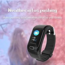 2019 Multifunctional smart watch Intelligent Bracelet Heart Rate and Blood Pressure Monitoring Waterproof Motion Meter Walking