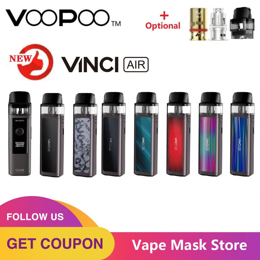 HOT!!! Original 900mAh VOOPOO VINCI AIR Pod Kit With 4ml Pod Built-in ENE.AI ChipBest E-cig Vape Kit VS Vinci  / Vinci X Mod Kit
