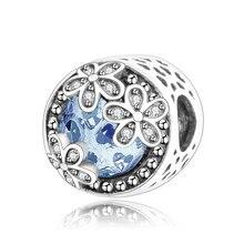 Dazzling Daisy Meadow Openwork Charm Fit Original Pandora Charms Silver 925 Bracelet For Women Fashion Jewelry Berloque