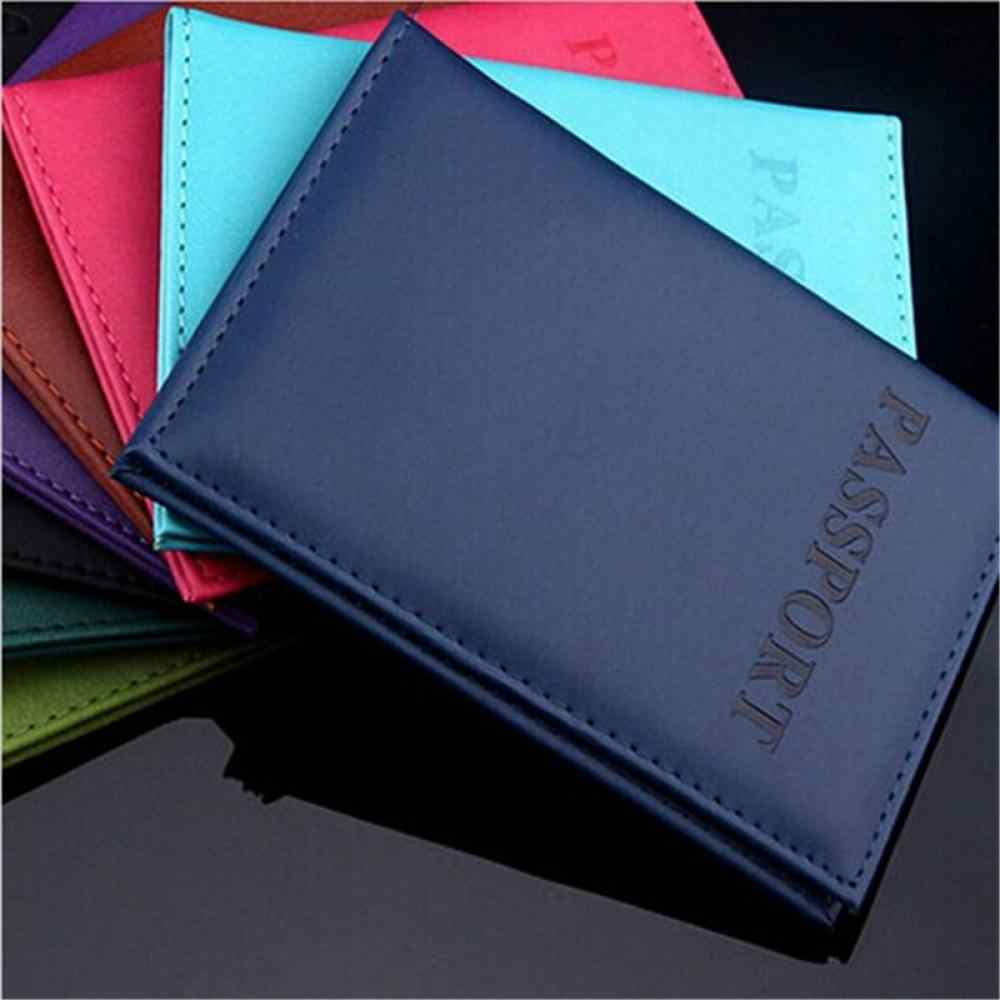 Travel Passport Cover Utility Simple Passport ID Card Cover Holder чехол на паспорт Leather Passport Wallet обложка на паспорт