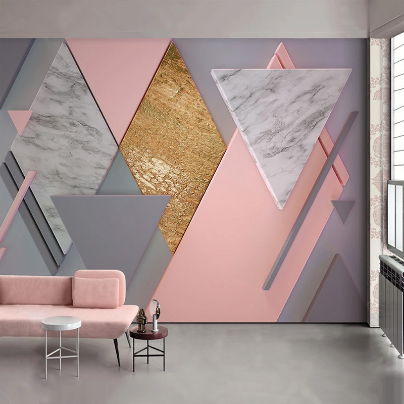 Custom-Photo-Wallpaper-3D-Nordic-Style-Pink-Rhombus-Geometry-Murals-Living-Room-Bedroom-Wall-Painting-Papel (1)