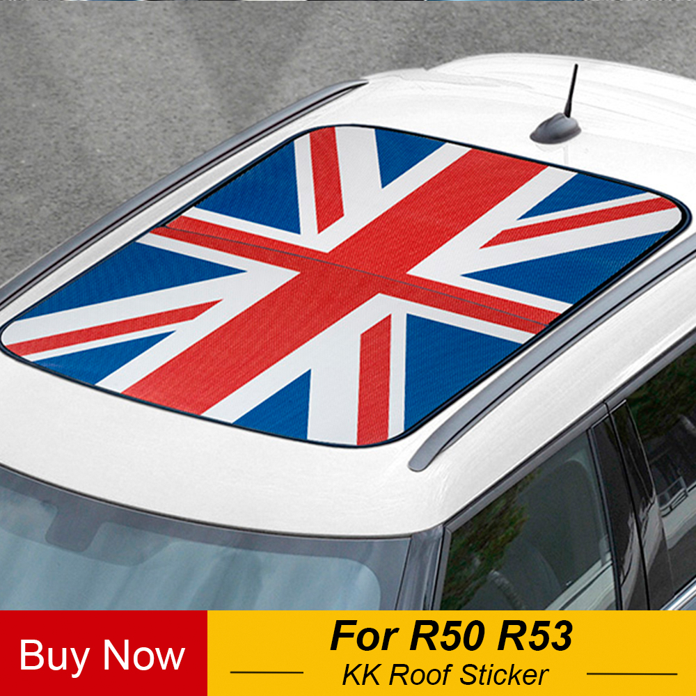 Car Roof Sticker Auto Union Jack Sunroof Decals Decoration For MINI Cooper One S R50 R53 Hatchback 3 Door Accessories