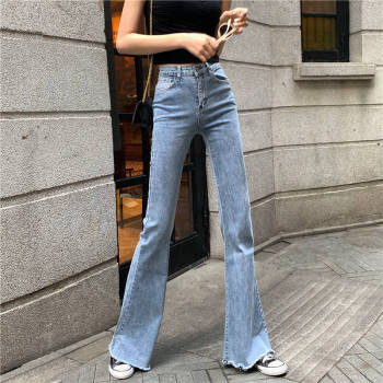 2019 New Denim High Waist Flare Jeans Boyfriend Jeans For Women Full Length Loose Casual Sexy Jeans Spring Pants cotton blend flare pants for women denim jeans casual plus size autumn spring high waist full length slimming sashes kpro604
