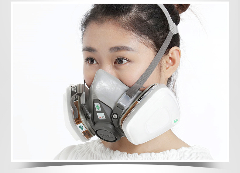 3M Anti-virus Masks Spray Paint Decoration Chemical Labor Protection Protective Mask Double Can Dust Mask Set 6200+6001
