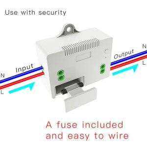 Image 4 - Interruptor inalámbrico RF433 sin batería, interruptor de luz de pared con Control remoto, autoalimentado, sin cables, transmisor de Panel de pared necesario.