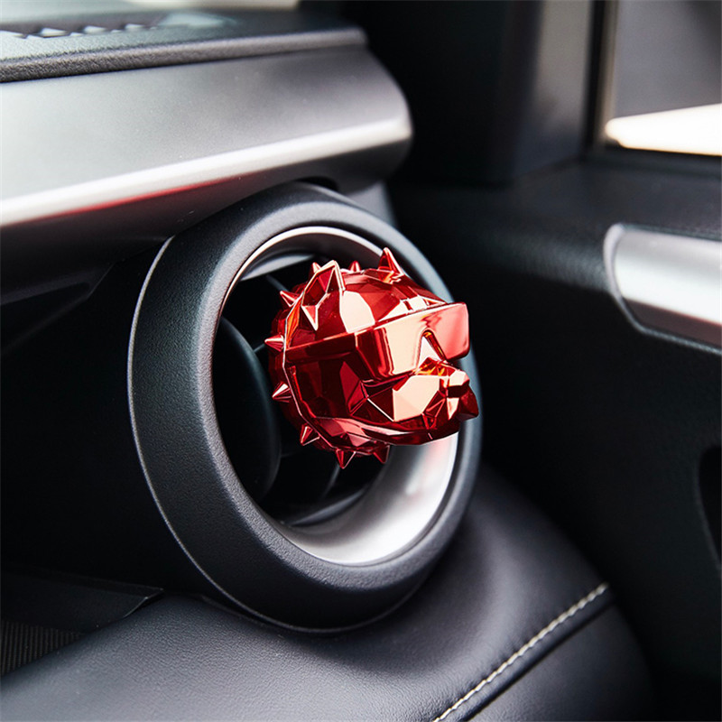 Creative Bulldog Dog head Car Air Freshener Perfume Clip Fragrance Auto Vents Scent Parfum Bulldog Diffuser Interior Accessorie
