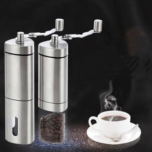 Image 1 - 수동 커피 그라인더 빨 세라믹 코어 스테인레스 스틸 수제 미니 휴대용 커피 콩 버 그라인더 밀 주방 도구