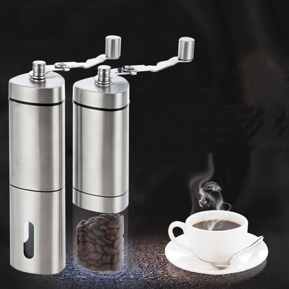 Manual Coffee Grinder Washable Ceramic Core Stainless Steel Handmade Mini Portable Coffee Bean Burr Grinders Mill Kitchen Tool