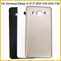 새로운 J710 후면 하우징 케이스 삼성 갤럭시 J7 2016 버전 J710 J710F 배터리 커버 도어 후면 커버