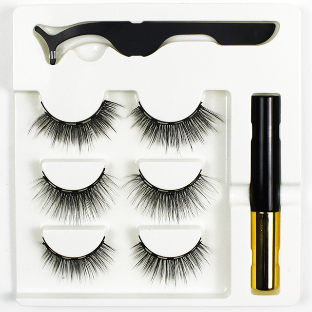 Grafting World Magnetic Eyeliner and Eyelash skit with Tweezer and Applicator Water Proof and Wind Proof