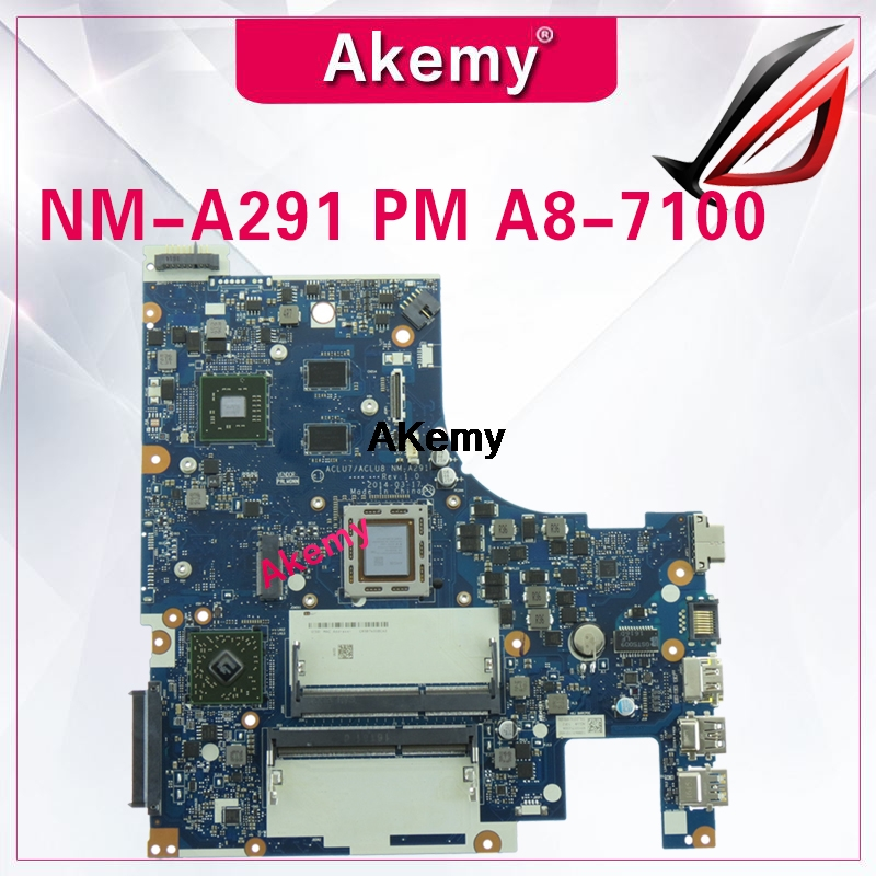 Z50-75 Mainboard For Lenovo Z50-75 G50-75M G50-75 Motherboard ACLU7/ACLU8 NM-A291 Rev1.0 With A8-7100 CPU Test 100%
