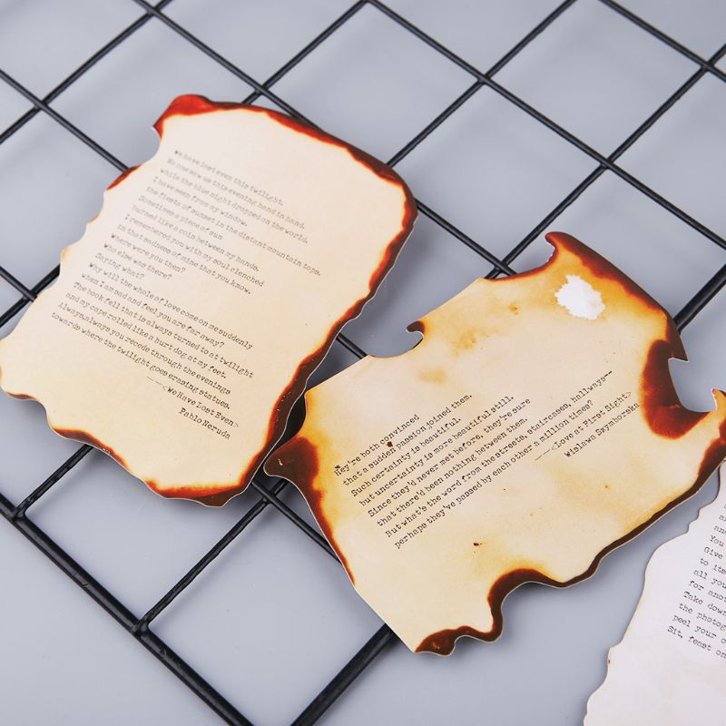 30 Sheets Lovely Burnt Postcard Letter Birthday Gift Card Wish Message Poster Cards H7EC