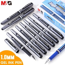 M&G  12pcs 1.0mm Signature Gel Pen Broad Gel Ink Pens Black Blue Pen Stationery for School Office Supplies Writing Cute Kawaii