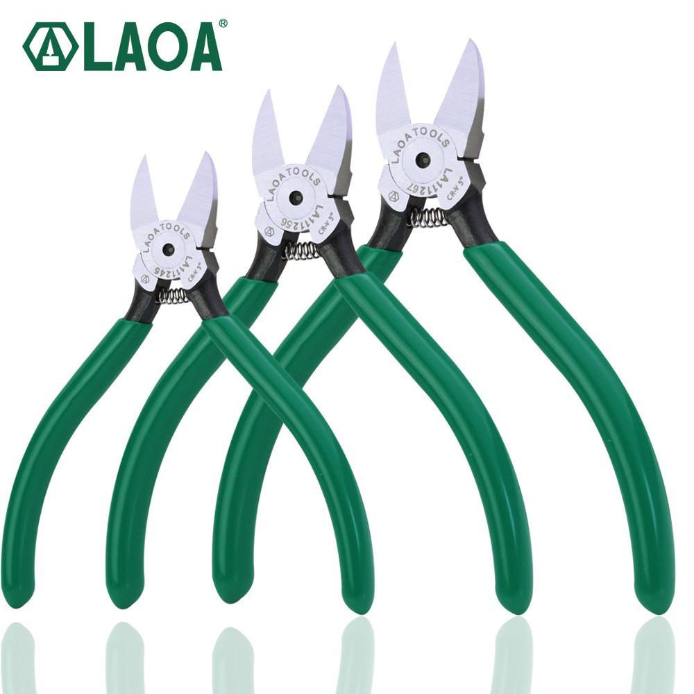 LAOA CR-V Alicates de plástico 4.5 / 5/6 / 7inch Joyas Cortadores de cable de alambre eléctrico Cortadores de corte lateral Herramientas de mano Herramienta de electricista