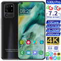 Global Version Galxy S30U Pro 7.2 Inch Smartphone Full Screen 12GB+ 512GB Android 10 Finger Face ID Dual Camera 4G Smart Mobile