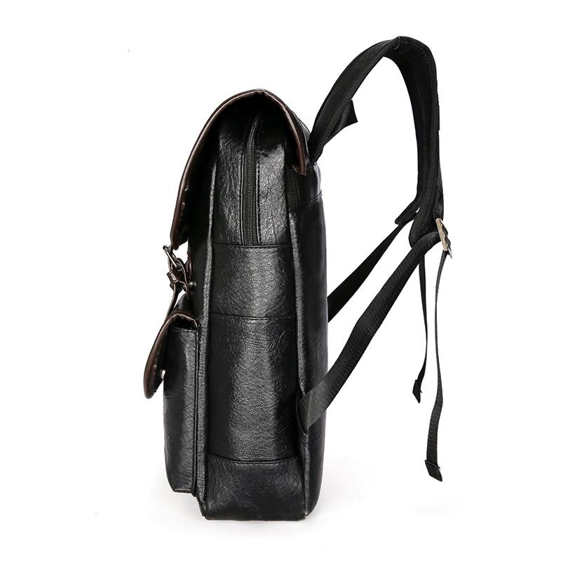 Image 4 - DIDA BEAR  Men Backpack Leather Bagpack Large laptop Backpacks Male Mochilas Retro Schoolbag For Teenagers Boys Travel BagBackpacks   -