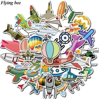 sticker motorcycle Flyingbee 40 pcs Flying gear Sticker hot air balloon Stickers for DIY Luggage Laptop Skateboard Car Motorcycle Stickers X0737 (1)