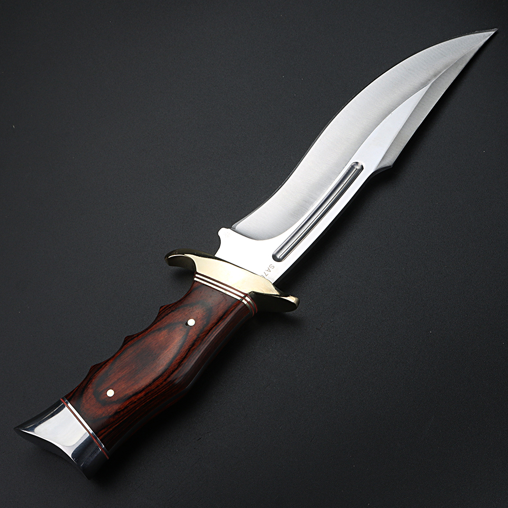 Tools : Outdoor knife camping hunting self-defense short knife straight knife survival knife high hardness military knife retired knife