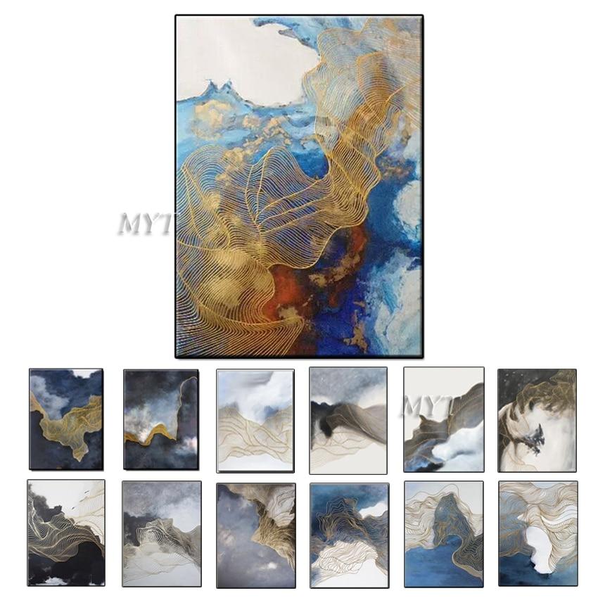 MYT бескаркасные 2 шт. ручная работа картина маслом настенные картины холст искусство Декор картина маслом на холсте для домашнего декора без рамы