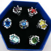 7pcs/set Anime Hitman Reborn Vongola family Varia XANXUS/Squalo/Marmo/Belphegor 7 keepers Jewelry Ring for Cosplay Accessories
