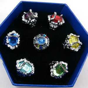 7pcs/set Anime Hitman Reborn Vongola family Varia XANXUS/Squalo/Marmo/Belphegor 7 keepers Jewelry Ring for Cosplay Accessories(China)