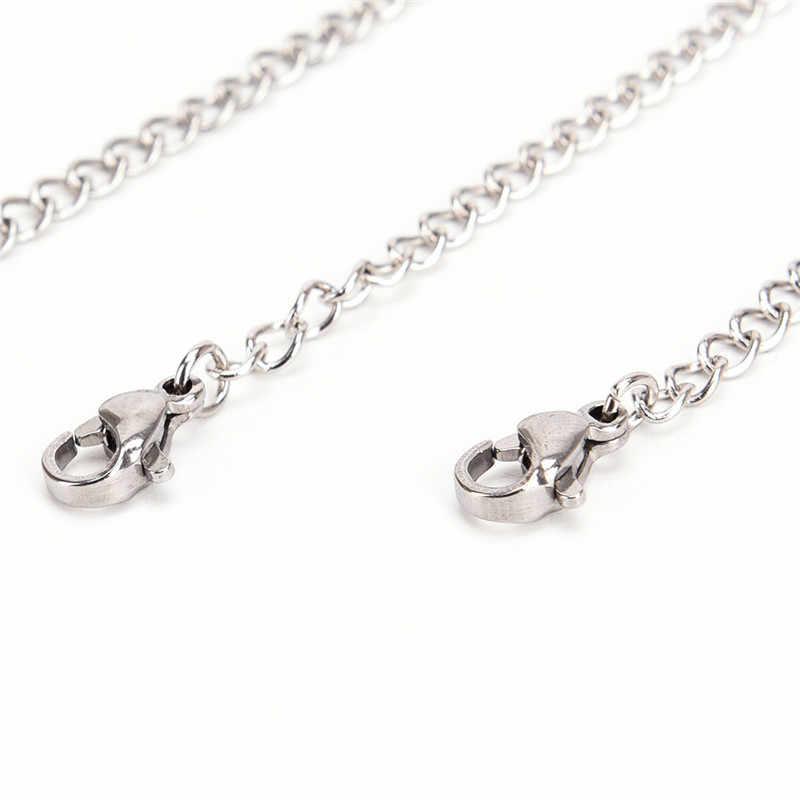 5/7. 5/10cm extensión de tono extensión de cadena de cola langosta cierres conector para DIY joyería hacer hallazgos pulsera collar