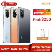 Versione globale Xiaomi Redmi Note 10 Pro 6GB 64GB Snapdragon 732G Smartphone108MP Quad Camera 120Hz 6.67