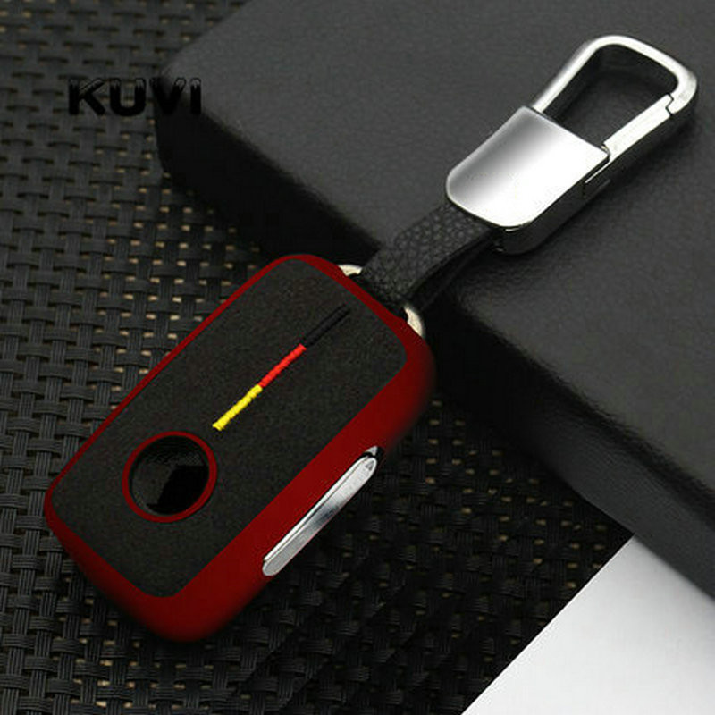Suede Car Key Case For Volkswagen VW Passat Golf Jetta Bora Polo Sagitar Tiguan Auto Key Bag Cover Protector with Key Chain TPU