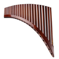 Professional musical instrument romania pan flute 25 pipes 22 pipes romanian base holder panflute C F G key