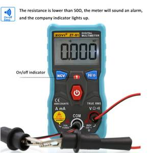 Multimeter-Tester Digital Autoranging True with Backlight Insulating-Protective-Case