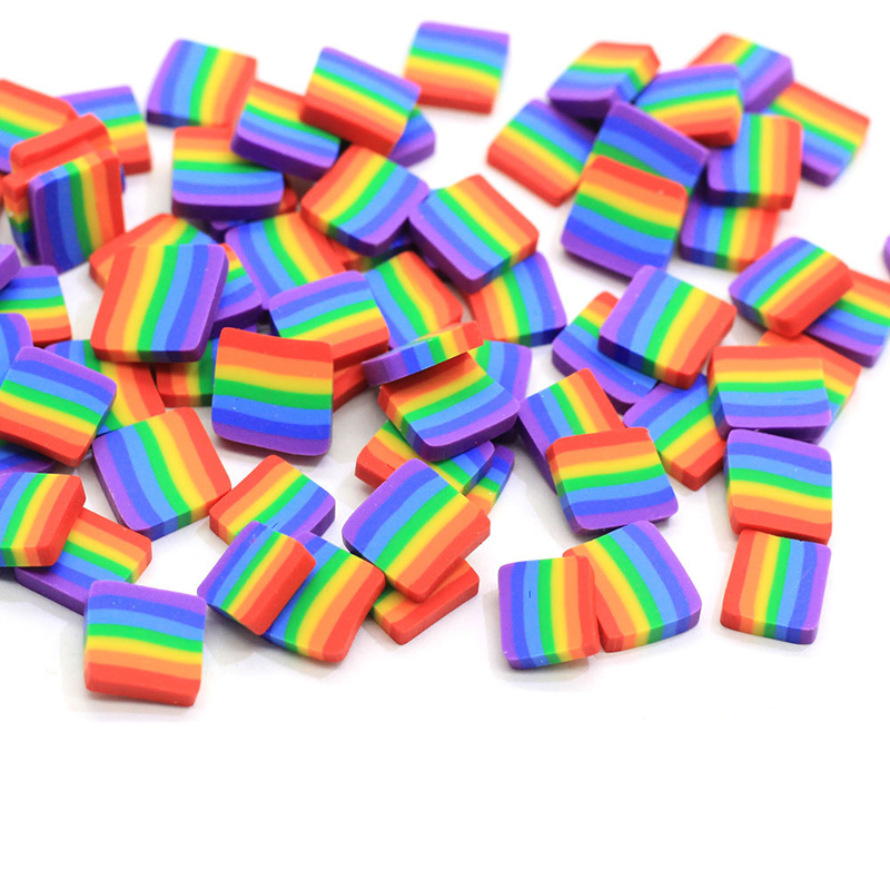 Happy Monkey 10g Polymer Clay Rainbow Slime Additives Supplies Cute  Sprinkles DIY Kit For Cloud Clear Crunchy Slime Clay