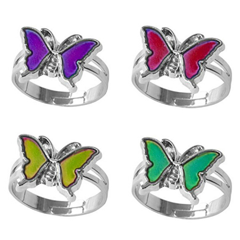 1Pc Mood Ring Changing By Temperature Ajustable Rings Child Size Kids Birthday Party Supplies Diy Craft Toys