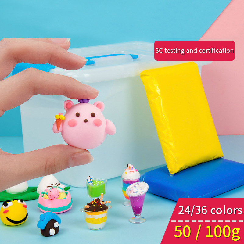 Fluffy Slime Charms Kit Baby Toys Polymer Clay Learning Educational Toy For Children Plasticine Gum Polymer Clay Antistress 50G