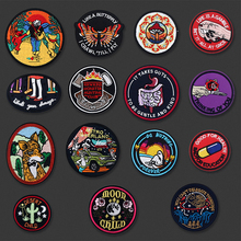 US $0.58 11% OFF|Round Visceral Lonely Ghost Embroidered  Patches Iron On For Clothing DIY Cap Badges Stripes Applique Clothes Stickers Patch-in Patches from Home & Garden on AliExpress