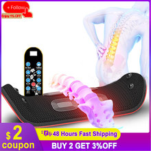 Electric Waist Massager Lumbar Traction Device Inflatable Hot Compress Lumbar Spine Support Massage Device Back Relieve Pain