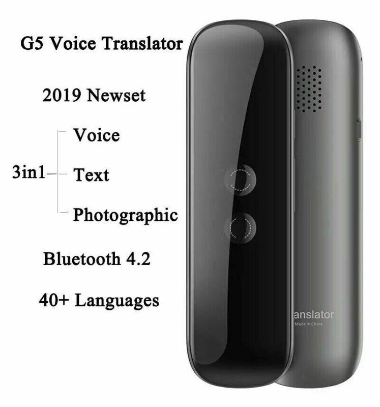 Portable Instant Voice 2-Way Translator 40 Languages Translation Travel Business Text Smart Translator