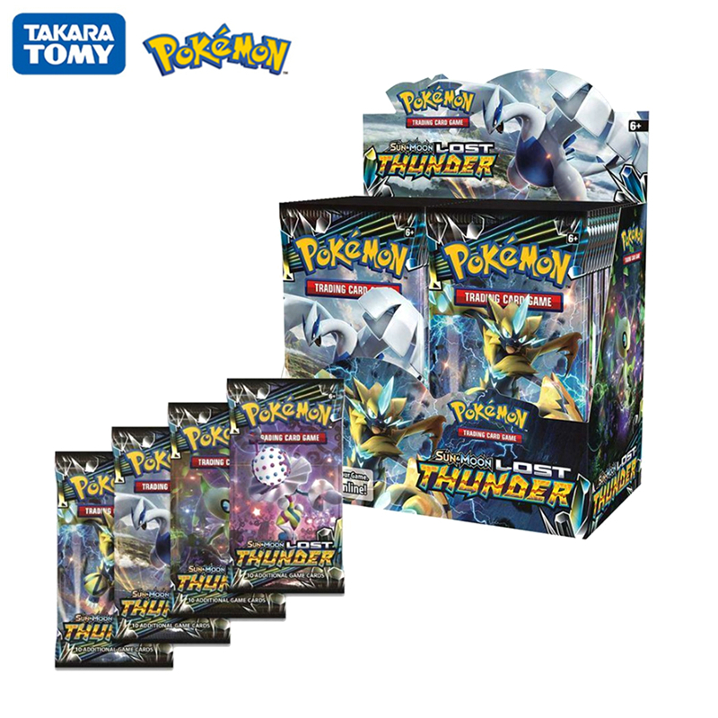 324Pcs/Box Pokemon Cards Sun & Moon Lost Thunder English Trading Card Game Evolutions Booster Box Collectible Kids Toys Gift