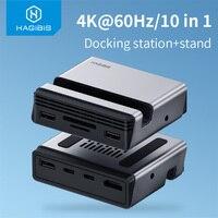 Docking Station USB C Hub type-c di tipo C da tipo C a 4K lettore di schede PD SD/TF compatibile HDMI supporto per telefono RJ45 per MacBook