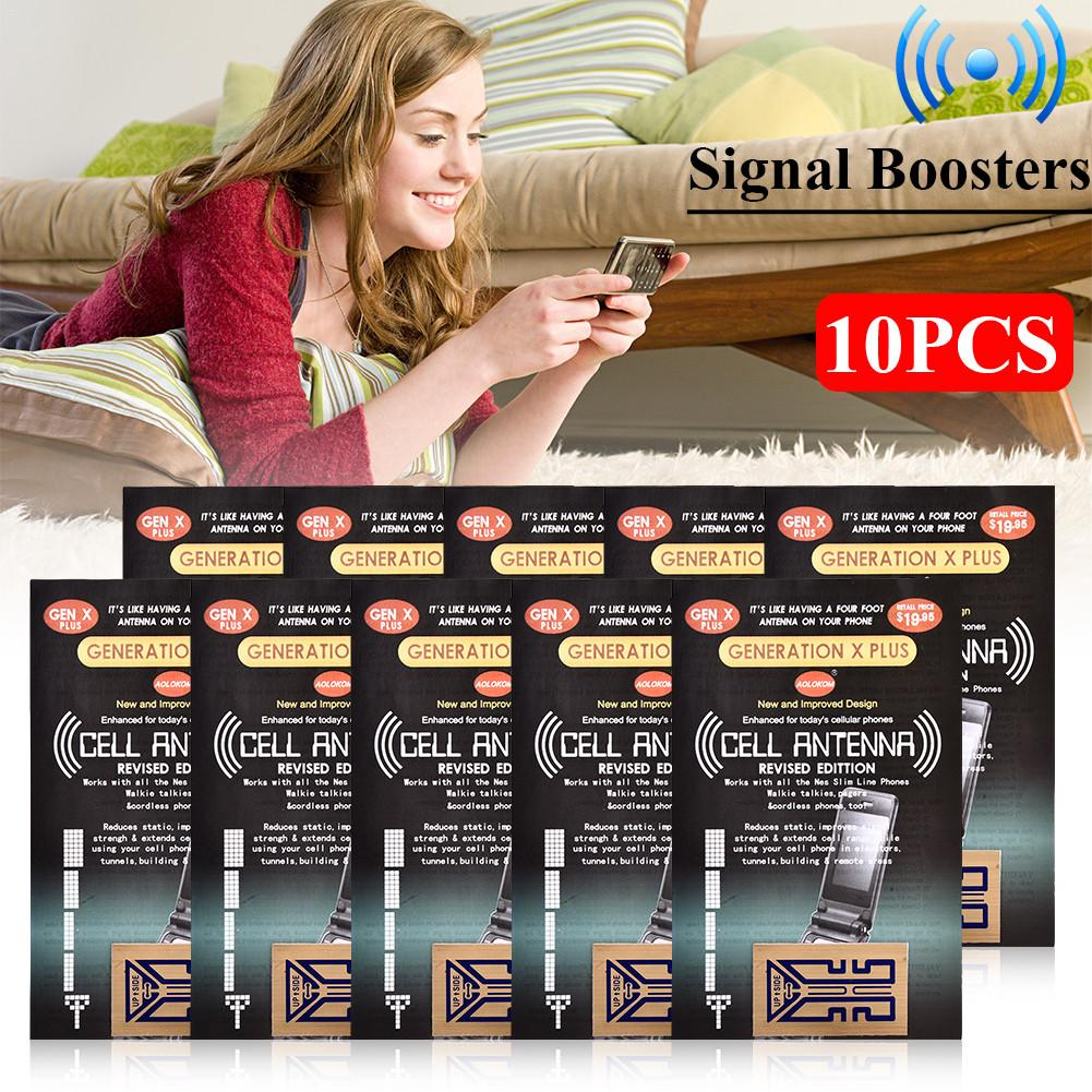 10 X Cell Phone Signal Boosters For Cell Phones Two Way Radios PDAs Walkie Talkies Beeper And Even Cordless Phones In Your House