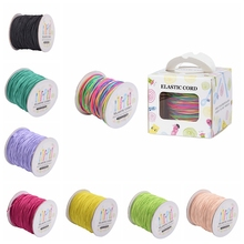 1mm Round Elastic Cord Thread with Nylon Outside and Rubber Inside, Colorful 1mm; 109.36yards/roll(100m/roll)