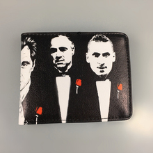The Godfather PU Leather Short Small Bifold Wallet Coin Pocket Card Holder Slim Purse Men Women Thin Money Bag high quality 2019