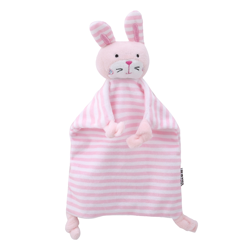 Baby Soothe Appease Towel Pacify Towel New Born Infant Soft Blanket Appeasing Towels Cartoon Animal Doll Plush Comforting Toy