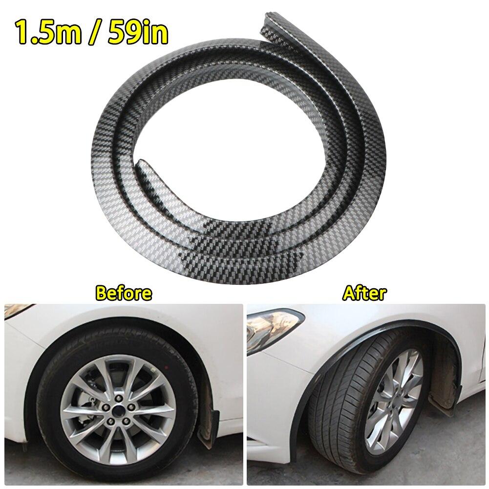 Universal Carbon Fiber Wheel Eyebrow Protector Strip For BMW E90 E Audi Mercedes