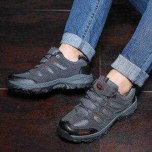 Image 5 - 2019 nouveau automne hiver anti dérapant baskets pour hommes chaussures en plein air marche randonnée chaussures montagne chasse bottes daim chaussures pour homme
