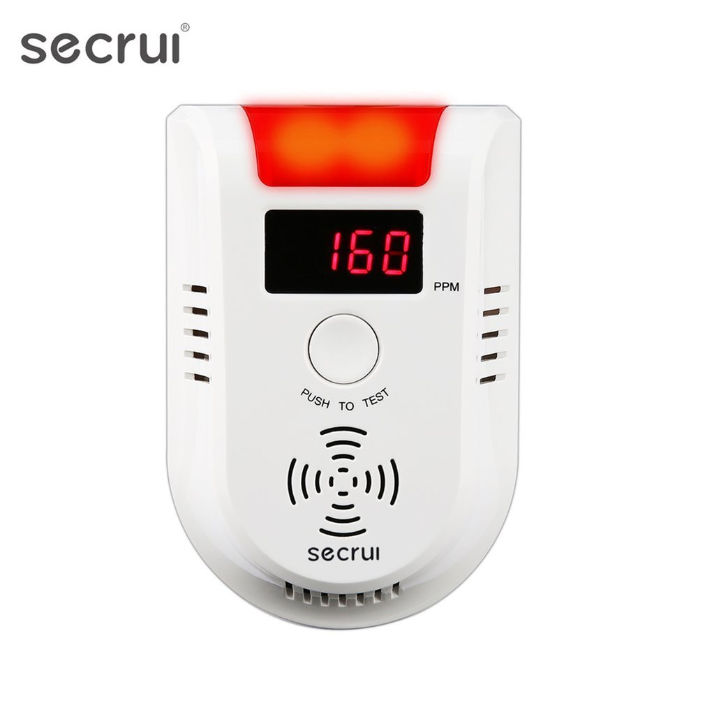SECRUI GD13W Wireless Digital LED Display Combustible Gas Detector Independent Red LED Light Flashes For GSM PSTN