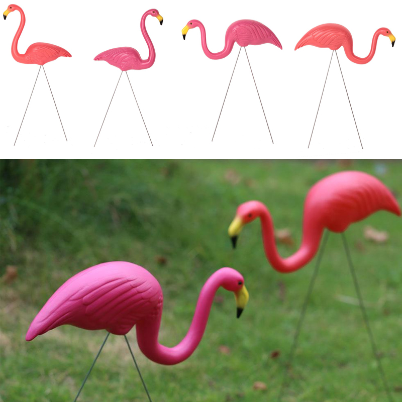Gardening Decor Flamingo Decoration Garden Artificial Flamingo Outdoor 3pcs/Lot For Plastic Pink/Red Festival Villa Wedding