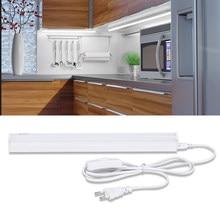 Led T5 Tube pod szafką oświetlenie kuchni podłużna lampa Strip Light Cocina kinkiet 220V 30cm 60cm + ue wtyczka cały zestaw kuchnia sypialnia