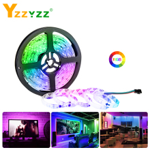 DC 12V RGB 5050SMD WS2811 Smart IC LED Strip Light Tape Colorful Ribbon 1/2/3/4/5M 3A 17KEY for Living Room Decoration Christmas
