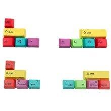 Modificadores mecânicos 10 keycap chave do perfil pbt cmyk do oem dos keycaps do teclado de mac/win